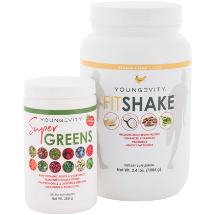 Youngevity Super Greens and FitShake Combo